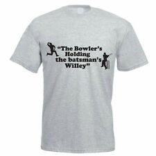 THE BOWLER IS HOLDING THE BATMAN'S WILLEY - Funny / Cricket Themed Mens T-Shirt