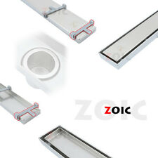 Rectangle 500-1800mm Stainless Steel Linear Waste Hair Grate Floor Drain Channel
