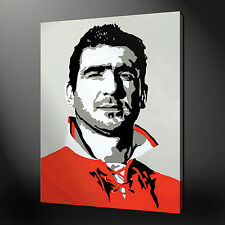 ERIC CANTONA THE KING CANVAS WALL ART PICTURES PRINTS VARIETY OF SIZES