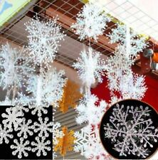 30pcs White Snowflake Ornaments Christmas Tree Decorations