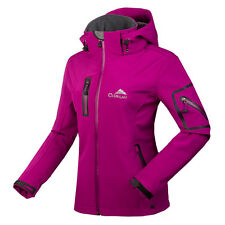 New Womens Winter Softshell Jacket Windbreaker Outdoor Hiking Golf Coats Clothes