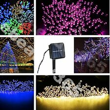 Colorfull Solar string lights 60/100/200LED fairy for Christmas outdoor gardern