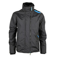 Superdry Jacket Popzip Technical Windcheater Coat  S-XXL  Charcoal / Fluo Blue