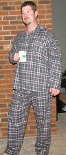 """Pajamas Men's Flannel Blackwatch or Red Stewart Plaid """"Made in USA"""""""