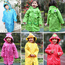 School Children Cartoon Waterproof Hooded Rain Coat Jacket Poncho Raincoat GOCG