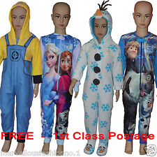 Primark Kids Girls FROZEN OLAF Anna Elsa Boys Pyjamas Sleepsuit Allinone Romper