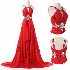2015 Backless LONG Wedding Quinceanera Formal Evening Gown Prom Masquerade Dress