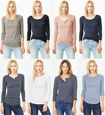 GAP Womens Henley Shirts Top Long & 3/4 Sleeve Reg & Tall XS,S,M,L,XL,2XL,MT,LT