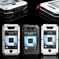 Aluminum Metal Case Cover Gorilla Glass For iPhone 4 4S ShockProof AU Warehouse