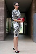 NWT ZARA COMBINED LEOPARD PRINT SHEATH DRESS SIZE S