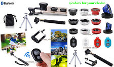 6in1 Kits for Phone Monopod/Tripod Mount Holder+Bluetooth Remote Control+Lens