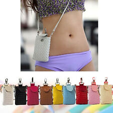 Universal Shoulder Bag Pouch Sleeve Case Skin with Neck Strap for IPhone Mobile