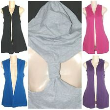 Miley Cyrus Max Azria NEW French Terry Tunic Racerback Hooded Vest Junior XS S M