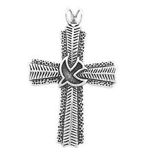 925 Sterling Silver Designer Cross With Bird Pendant 7 Grams Divine Unique