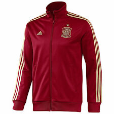 adidas Spain World Cup WC 2014 Soccer Presentation Jacket Red / Gold Brand New