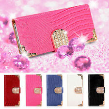 MAGNETIC DIAMOND WALLET LEATHER FLIP CASE COVER FOR IPHONE 6 4.7""