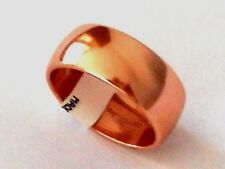 "SOLID COPPER Polished 3/8"" Domed Band Ring size 7 thru 13 Pain Relief Folklore"