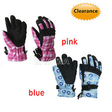 Kids Skiing Gloves Boys Girls Winter Warm Gloves Waterproof for 8-12 Years