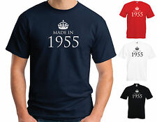 MADE IN 1955 T-SHIRT - 60th Birthday Christmas Fathers Day S M L XL 2XL 3XL