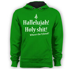 Hallelujah Holy Sh*t funny sh*tter's full chritsmas xmas Green Hooded Sweatshirt