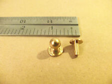 Sam Browne Solid Brass Button Studs