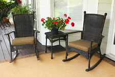 Portside 3pc Classic Rocking Chair Set comes in Amber, White or Dark Roast Color