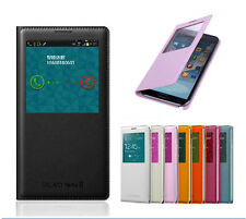 Slim S-View Flip PU Leather Smart Case Cover For Samsung Galaxy NOTE 2 II N7100