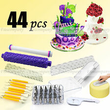 44pcs Sugarcraft Cake Fondant Icing Modelling Tools Pstry Cupcake Nozzles Tips