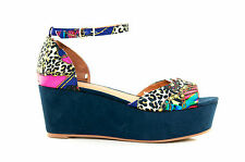 Therapy Dress Shoes Portugues Platform Flatform Wedges Sandals Anchor Strap Navy