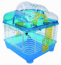 YML Clear Plastic Base Dwarf Hamster, Mice Cage with Color Accessories - H1010