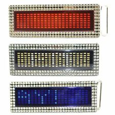 Blue Red White Diamond DIY Text Name Flash Chrome LED Scroling Belt Buckle Party