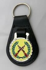 SHOOTING RIFLES LEATHER KEY FOB Keyring Gift Choice of Colours NEW