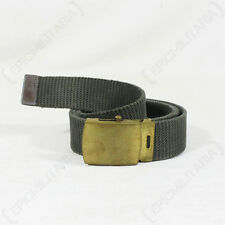 US Army Green CANVAS WEBBING BELT with Gold Buckle - All Sizes Military Surplus