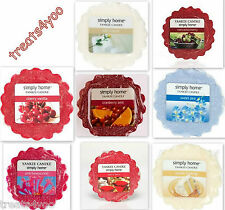 YANKEE CANDLE TARTS SIMPLY HOME ASSORTED FRAGRANCES plus FREE POSTAGE