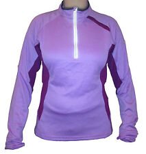 NIKE Sphere Dry  Womens Quarter-Zip Reflective Running Jacket Top w/Thumb Holes