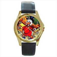 DONALD DUCK SCROOGE MCDUCK CHRISTMAS WATCH GOLD OR SILVER-TONE 6 STYLES