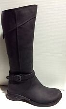 NEW Women's Merrell Captiva Buckle-Up Waterproof Leather Boots - Black - J69114
