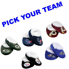 NFL TEAM LOGO BABY INFANT BOOTIES SLIPPERS SHOES BABY SHOWER NEWBORN LICENSED