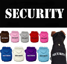 Dog Clothes SECURITY Coat Hoodie Sweater Jacket for Dogs Puppy Puppies COTTON