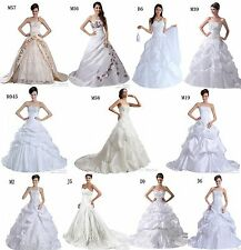 Faironly Stock multifarious Wedding Dress Bridal Ball Gown Size 6 8 10 12 14 16