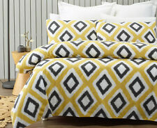 Phase 2 Ikat Gold Black Quilt Doona Cover Set - SINGLE DOUBLE QUEEN KING
