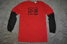 DC Shoes Boys Long Sleeve Grizz 2Fer T-Shirt ADBKT00147 See Sizes Red/Black NWT
