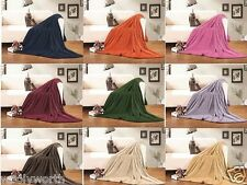 Ultra Super Microfiber Soft Fleece Plush Luxury BLANKET Many Colors Styles Sizes