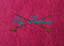 FLY FISHING Embroidered Personalised Fishing Towel Birthday Fathers Day Gift