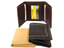 Leather TriFold Double Bill 6 Credit Card 1 ID Window Stitch Design