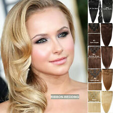 Clip In 100% Remy Human Hair Extensions Full Head Best Cheap Factory Prices F104
