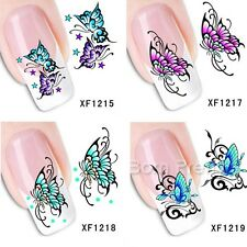 1Sheet Flying Butterfly Design Nail Art Water Decals Transfer Sticker Decoration