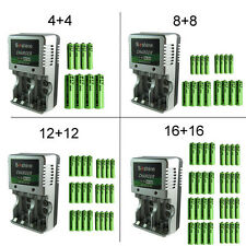 AA 3000mAh AAA 1350mAh Ni-MH Rechargeable Batteries 2A 3A R6 R3 1.2V + Charger