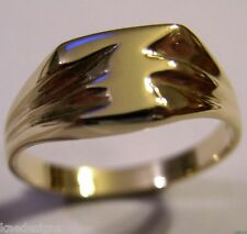 KAEDESIGNS, GENUINE, SOLID YELLOW OR ROSE OR WHITE GOLD 375 LARGE INITIAL RING F