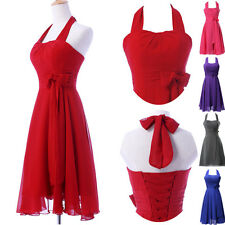 XMAS DISCOUNT~New Halter Formal Party Prom Evening Bridesmaid Gown Short Dresses